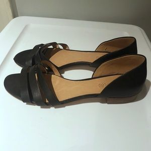 Madewell d'orsay flats black leather 9.5